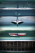 Collector Hood Ornament Digital Art Prints - 1955 Chevy Bel Air Print by Gordon Dean II
