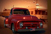 1956 Ford Truck Framed Prints - 1955 Ford F100 Pickup with 56 Grill Framed Print by Tim McCullough