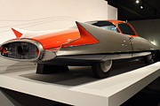 Transportation Photo Prints - 1955 Ghia Streamline X Gilda Concept Car - 7D17263 Print by Wingsdomain Art and Photography