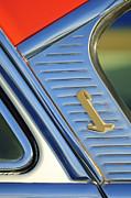 1955 Lincoln Capri Emblem Print by Jill Reger