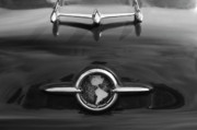 Car Mascot Framed Prints - 1955 Oldsmobile Holiday 88 Hood Ornament 2 Framed Print by Jill Reger
