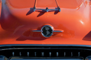 Hoodies Prints - 1955 Oldsmobile Rocket 88 Hood Ornament Print by Jill Reger