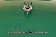 Hoodie Framed Prints - 1955 Packard Clipper Hood Ornament 2 Framed Print by Jill Reger