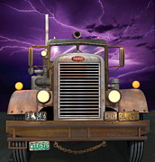 Weathered Digital Art Prints - 1955 Peterbilt Print by Stuart Swartz