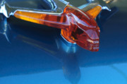 Car Mascot Metal Prints - 1955 Pontiac Safari Hood Ornament Metal Print by Jill Reger