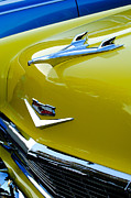 Blue Chevy Prints - 1956 Chevrolet Hood Ornament 3 Print by Jill Reger