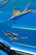 Historic Vehicle Photo Prints - 1956 Chevrolet Hood Ornament 4 Print by Jill Reger