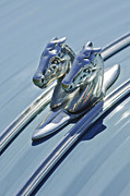 Collector Hood Ornaments Posters - 1956 Citroen 2CV Hood Ornament and Grille Emblem 3 Poster by Jill Reger