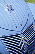Jill Reger Prints - 1956 Citroen 2CV Hood Ornament and Grille Emblem Print by Jill Reger