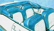 Americana Drawings Prints - 1956 Ford Fairlane Convertible 1 Print by Rob De Vries