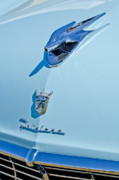 Historic Vehicle Photo Prints - 1956 Ford Fairlane Hood Ornament 3 Print by Jill Reger