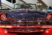 Domestic Cars Prints - 1956 Lincoln Premiere Convertible . Blue . 7D9245 Print by Wingsdomain Art and Photography