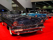 Cars Art - 1956 Lincoln Premiere Convertible . Blue . 7D9244 by Wingsdomain Art and Photography