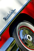 1956 Mercury Montclair Acrylic Prints - 1956 Mercury Montclair Wheel Emblem Acrylic Print by Jill Reger