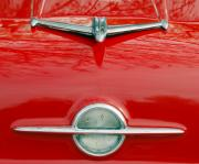 Car Detail Prints - 1956 Oldsmobile 98 Hood Ornament Print by Jill Reger