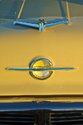 Collector Hood Ornaments Posters - 1956 Oldsmobile Hood Ornament Poster by Jill Reger