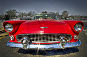 Classic Car.hot-rod Photos - 1956 T-Bird by Debra and Dave Vanderlaan