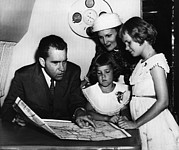 Us President Prints - 1956 Us Presidency, Nixon Family.  From Print by Everett