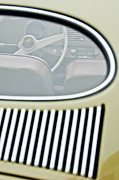Vw Bug Prints - 1956 Volkswagen VW Bug Steering Wheel 4 Print by Jill Reger