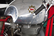 Bsa Prints - 1957 BSA Gold Star Daytona Racer Motorcycle Print by Jill Reger