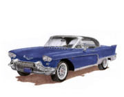 Cadillac Painting Posters - 1957 Cadillac 4 door Hard Top Poster by Jack Pumphrey