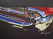 Chevy Pastels Prints - 1957 Cheverolet Bel Air Print by Sharon Quarles
