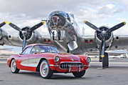 Vette Prints - 1957 Chevrolet Corvette Print by Jill Reger