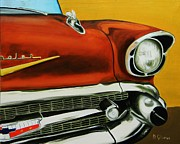 57 Chevy Painting Framed Prints - 1957 Chevy - Coppertone Framed Print by Dean Glorso
