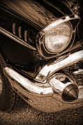 Sepia Digital Art Originals - 1957 Chevy Bel Air by Gordon Dean II