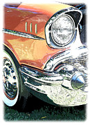 1957 Ford Custom Prints - 1957 Chevy Print by Steve McKinzie