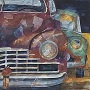 Cadillac Painting Posters - 1957 Classics Poster by Barb Pearson
