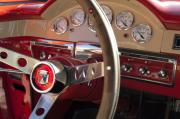 Historic Vehicle Prints - 1957 Ford Fairlane Steering Wheel Print by Jill Reger