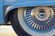 Blue Thunderbird Posters - 1957 Ford Thunderbird Wheel Poster by Jill Reger