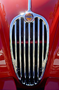 Fixed Art - 1957 Jaguar XK140 MC Fixed Head Coupe Grille Emblem 2 by Jill Reger