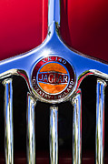 Fixed Art - 1957 Jaguar XK140 MC Fixed Head Coupe Grille Emblem by Jill Reger