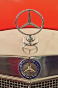 Car Mascots Prints - 1957 Mercedes-Benz 220 S Hood Ornament Print by Jill Reger