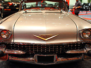 Transportation Metal Prints - 1958 Cadillac Eldorado Biarritz Convertible . Silver . 7D9421 Metal Print by Wingsdomain Art and Photography