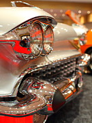 Sportscar Photos - 1958 Cadillac Eldorado Biarritz Convertible . Silver . 7D9427 by Wingsdomain Art and Photography