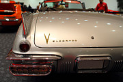 American Car Art - 1958 Cadillac Eldorado Biarritz Convertible . Silver . 7D9466 by Wingsdomain Art and Photography