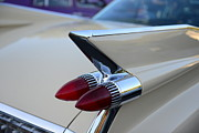Tail Fin Prints - 1958 Cadillac Tail Lights Print by Paul Ward