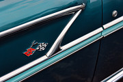 Turquois Posters - 1958 Chevrolet Bel Air Poster by Gordon Dean II
