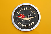 Old Car Posters - 1958 Chevrolet Corvette Emblem 7d15161 Poster by Wingsdomain Art and Photography