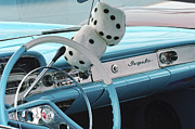 1958 Chevrolet Impala Prints - 1958 Chevrolet Impala Steering Wheel Emblem Print by Jill Reger