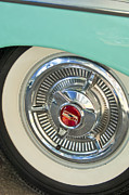 1958 Chevrolet Impala Prints - 1958 Chevrolet Impala Wheel Emblem Print by Jill Reger
