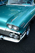 1958 Chevy Framed Prints - 1958 Chevy Belair front end 01 Framed Print by Paul Ward