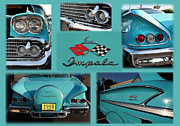 1958 Chevy Framed Prints - 1958 Chevy IMPALA Framed Print by Paul Ward