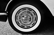 White Walls Metal Prints - 1958 Corvette white walls Metal Print by David Lee Thompson