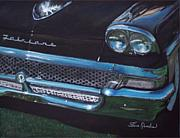 Classic Car Pastels - 1958 ford Fairlane by Sharon Quarles