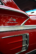 1958 Chevrolet Impala Framed Prints - 1958 Impala red  Framed Print by Paul Ward