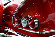 Red Chevrolet Photos - 1958 Impala tail lights by Paul Ward